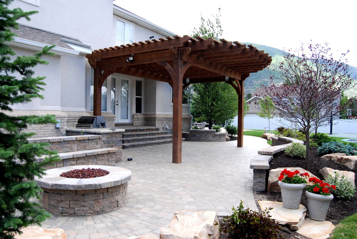 17 early american outdoor shade structures pergolas arbors gazebos pavilions western. Black Bedroom Furniture Sets. Home Design Ideas